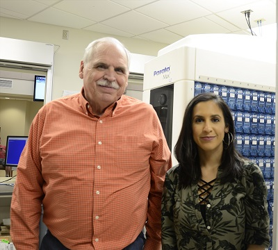 ​Aaron Wilson, left, and Vanessa Campos, right, were recently recognized for receiving a 100 percent satisfaction rating based on patient surveys. Wilson and Campos placed first in the Army and third in Tri-Service.