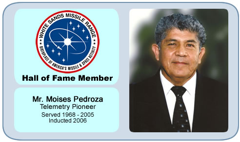 Photo of Mr. Moises Pedroza   Telemetry Pioneer   Served 1968 - 2005   Inducted 2006