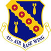 Emblem: 42nd Bomber Wing, last Wing to use Hound Dog