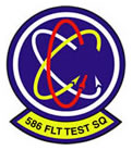 Logo: Patch of the 586th Flight Test Squadron