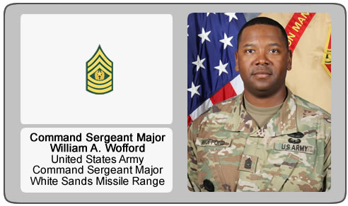 Command Sergeant Major William A. Wofford