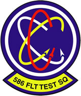 Squardon Patch, 586th Flight Test Squadron
